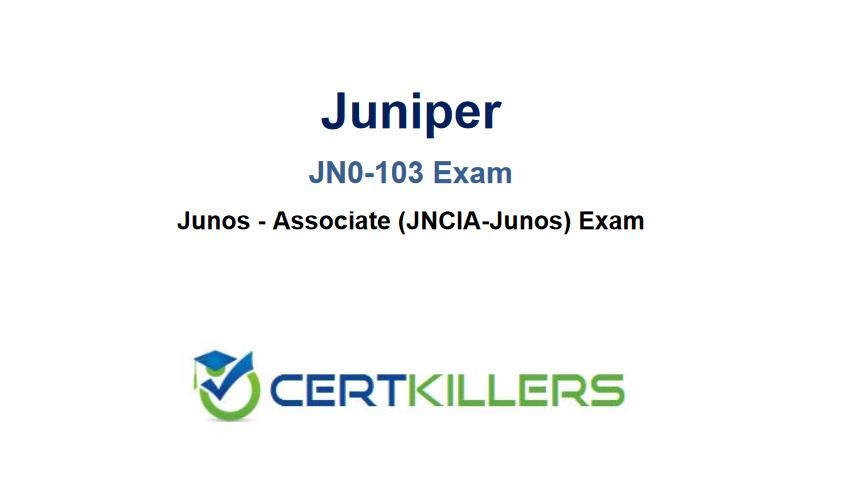 JN0 103 JNCIA Exam Trainer full screenshot